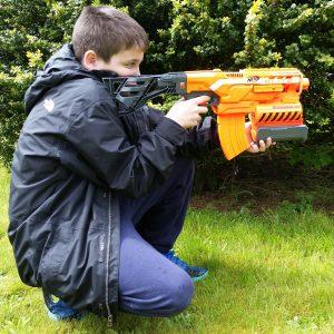 Jacob with Nerf Elite 2-in-1 Demolisher