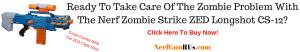 Ready To Take Care Of The Zombie Problem WithThe Nerf Zombie Strike ZED Longshot CS-12 | NerfGunRUs.com