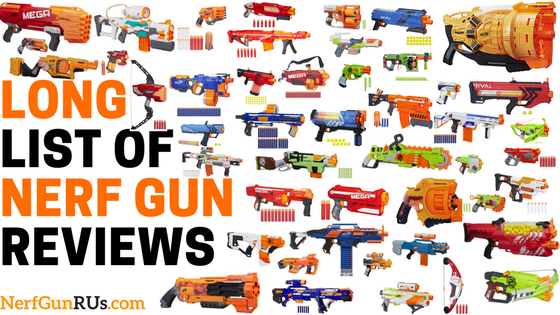 Get locked and loaded with this huge collection of awesome Nerf guns.