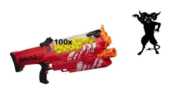 Nerf Rival Nemesis MXVII-10K and Demon